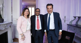 Lucia Salmaso, CEO BKT Europe; ArvindPoddar, CEO BKT; DidierQuillot, Executive General Director LFP 1