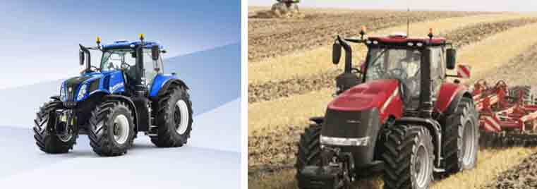 Tractores New Holland T8 y Case IH Magnum