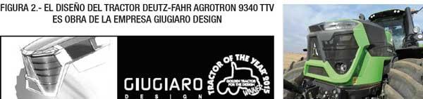 El diseño del tractor Deutz-Fahr Agrotron 9340 TTV es obra de la empresa Giugiaro Design