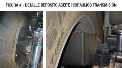Detalle depósito aceite hidráulico transmisión