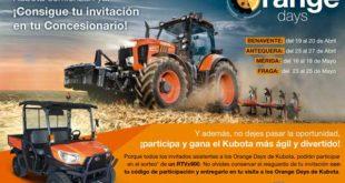 'Orange Days', jornadas en campo con los tractores Kubota M7001