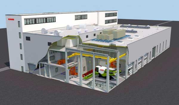 Claas unificará los laboratorios de pruebas en un nuevo centro en Harsewinkel