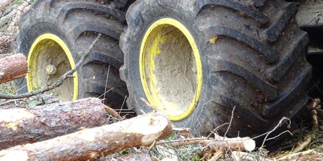 El neumático forestal de baja presión de inflado de Alliance debutará en Euroforest