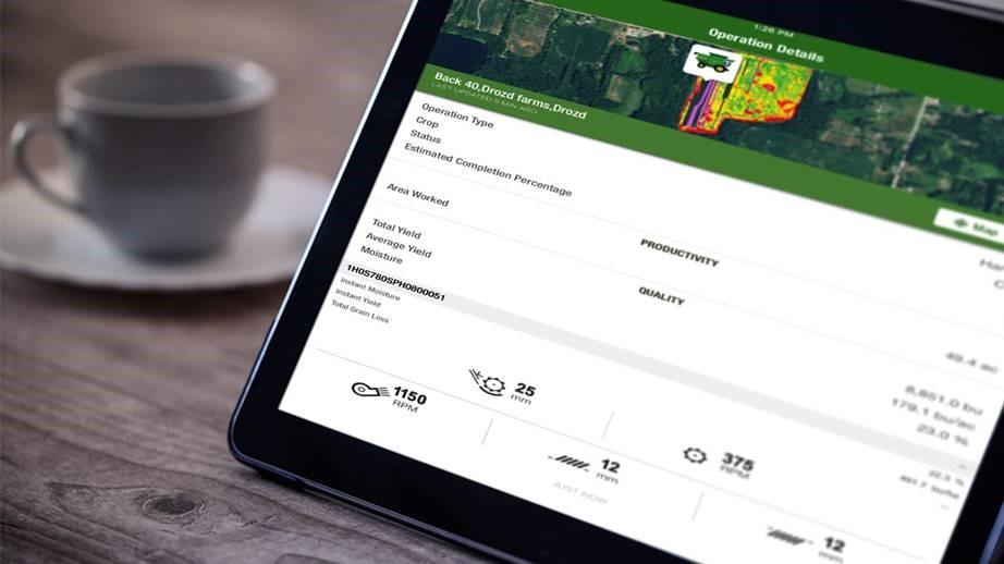 John Deere aplicación móvil MyOperations