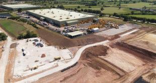 Vista aérea del lugar donde se ubicará la nueva fábrica de JCB Cab Systems
