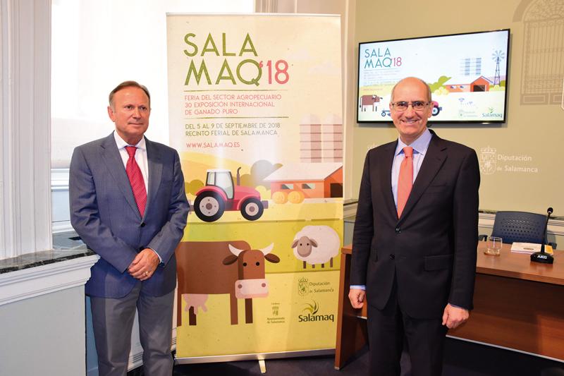 Javier Iglesias, presidente de la Diputación de Salamanca y el diputado de Agricultura y Ganadería, Román Hernández
