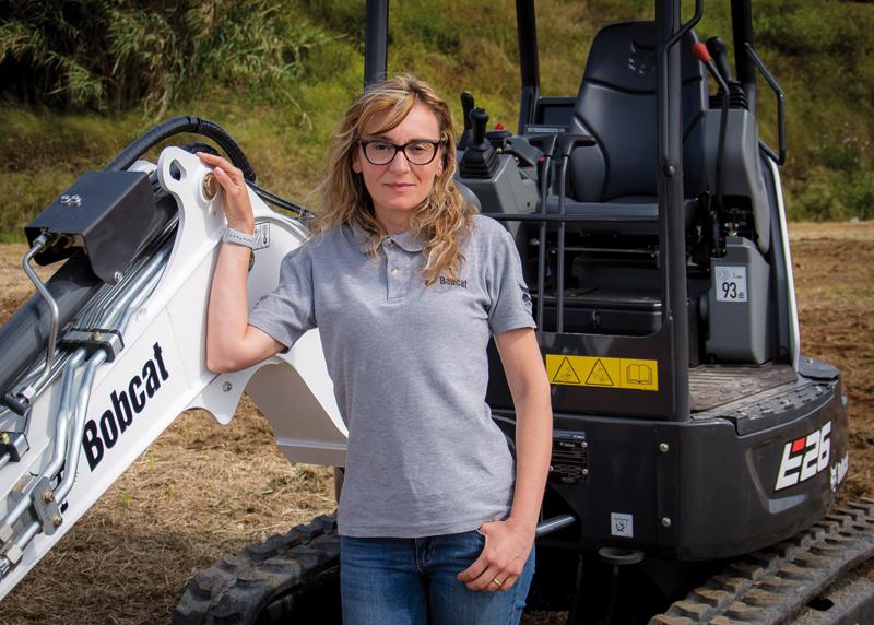 Francesca Biagini, Responsable de los implementos Bobcat para Europa del Sur y del Este, Turquía e Israel