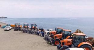 Los tractores de Kubota cuidarán de las playas de Estepona este verano