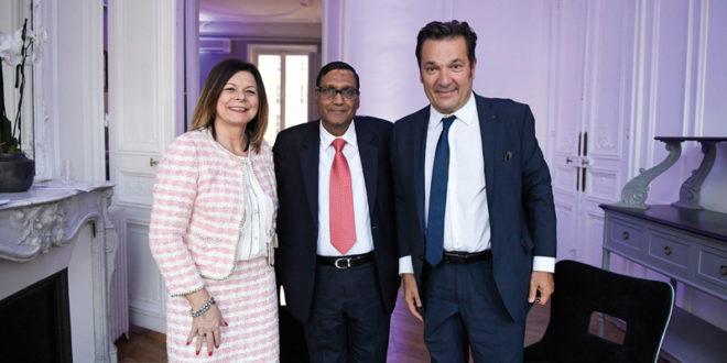 Lucia Salmaso, CEO BKT Europe; ArvindPoddar, CEO BKT; DidierQuillot, Executive General Director LFP 1