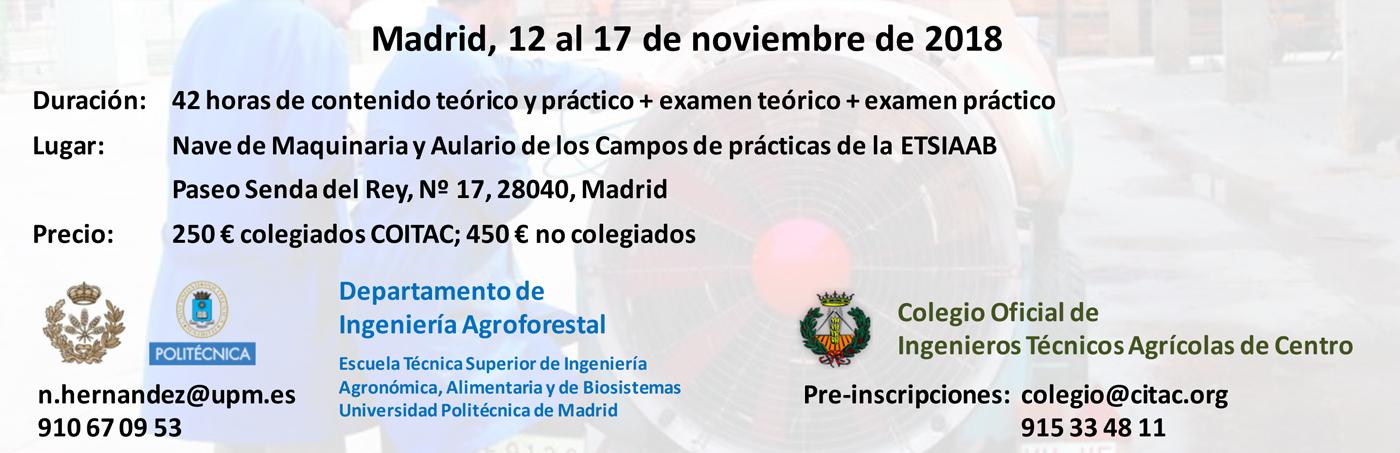 Información Curso ITEAF ETSIAAB 2018