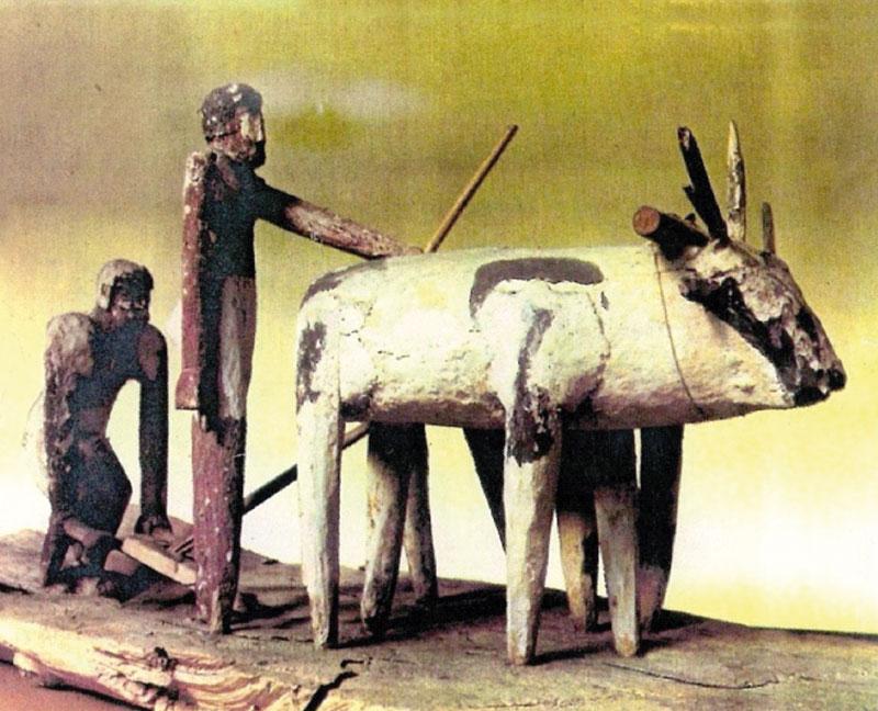Modelo de arado. Ofrenda de una tumba del Imperio Medio (1991-1783 a.C.).