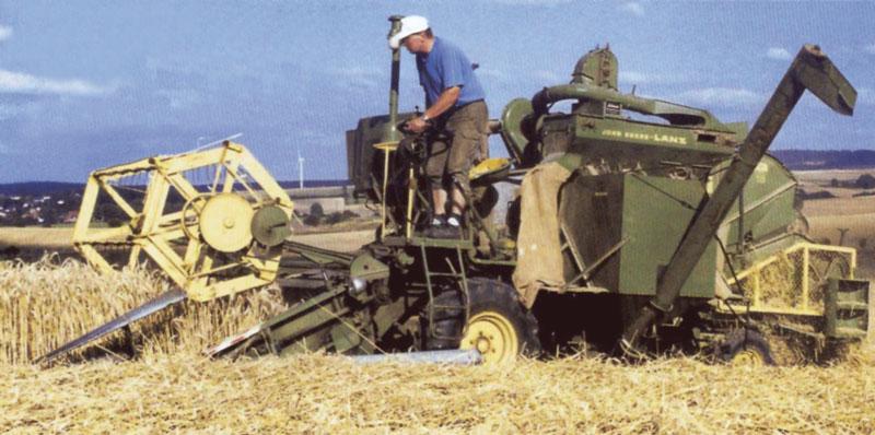 Recolección con cosechadora autopropulsada.
