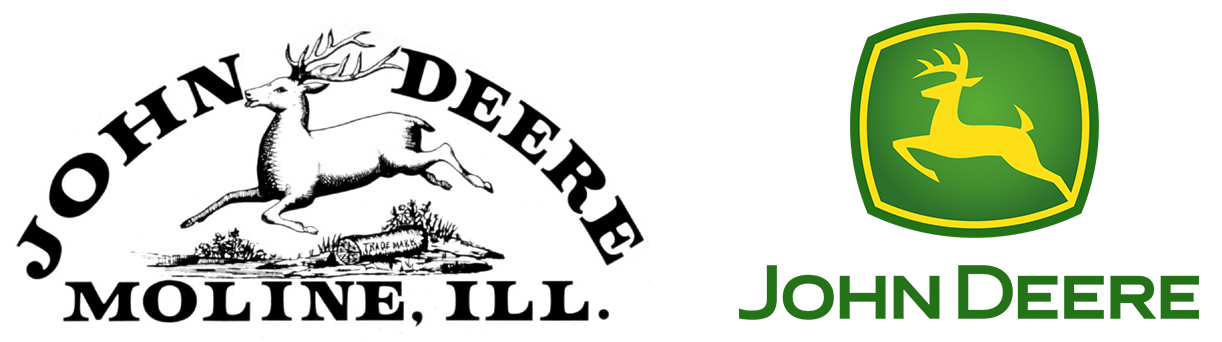 John Deere logotipos original y actual