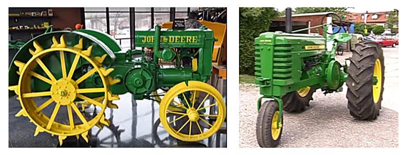 John Deere versiones modelo D y H