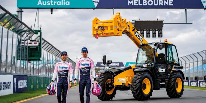 Las manipuladoras telescópicas de JCB se estrenaron en F1 en Australia