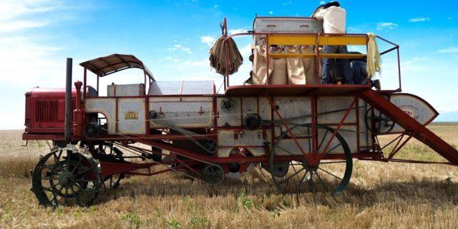 Claas restaura y demuestra Rotania, la primera cosechadora autopropulsada del mundo, que cumple 90 años