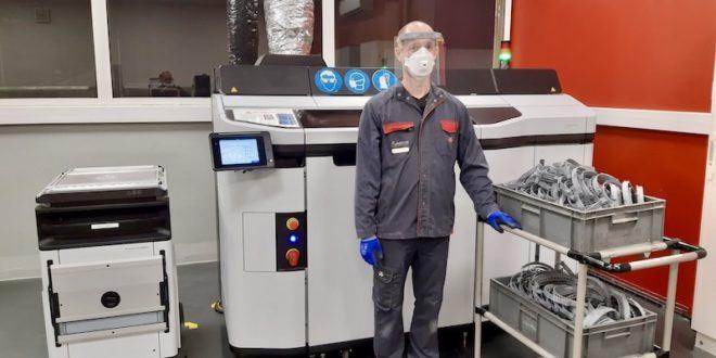 AGCO-Massey Ferguson fabrica pantallas faciales para el personal sanitario con sus impresoras 3D