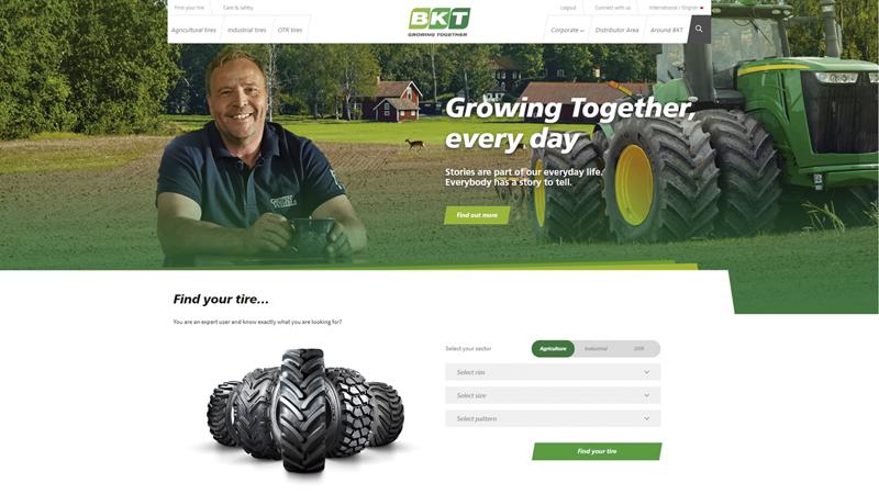 BKT Website Homepage