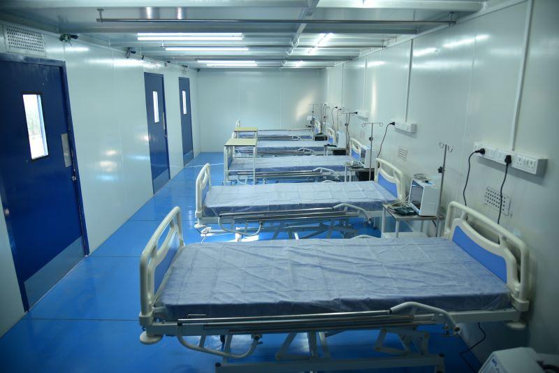 BKT centro de tratamiento covid en Bhuj