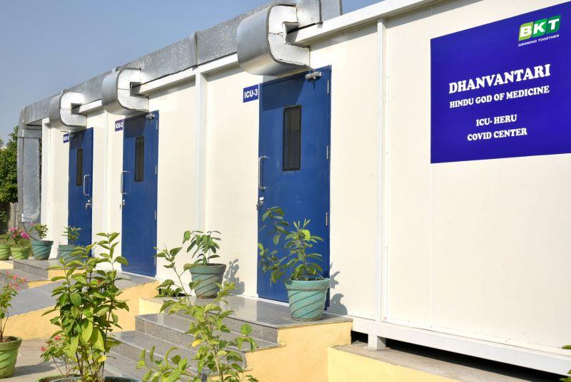 BKT, centro de tratamiento Covid en Bhuj