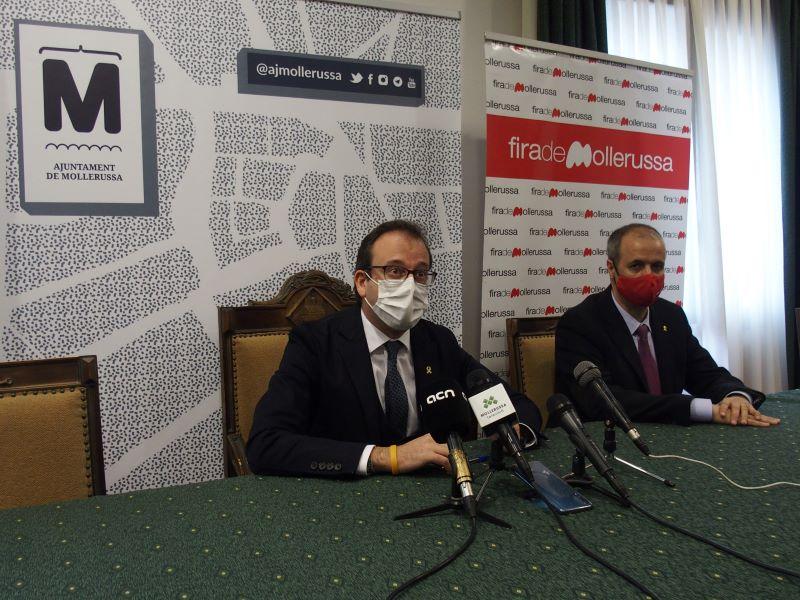 El presidente de Fira Mollerussa, Marc Solsona, y el director, Xavier Roure
