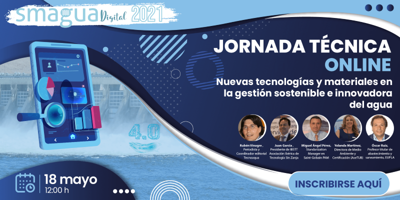 Jornada Online Smagua Nuevas tecnologías y materiales en gestión del agua